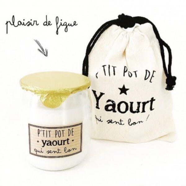 Bougie Pot de yaourt figue Marcel et lily